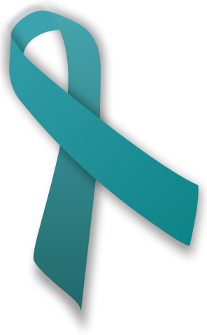Teal Ribbon for Ovarian Cancer
